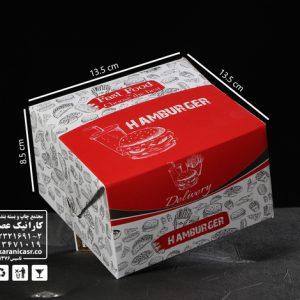 جعبه همبرگر بیرون بر طرح عمومی